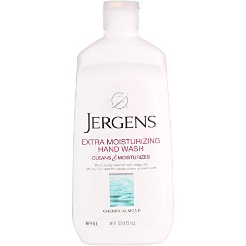 Jergens xtra Moisturizing Hand Wash Refill, Classic Cherry Almond 16 oz (Pack of 4)