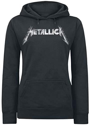 Metallica Spiked Sudadera con Capucha Negro L