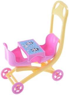 AuCatStore(TM) Plastic Stroller Double PLam Accessories for Barbie Kelly Dollhouse Toy PL