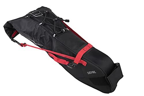ZEFAL Bolsa tija Silin, Z Adventure R11, Impermeable, Negra/roja 11 litros, Unisex Adulto, 11L