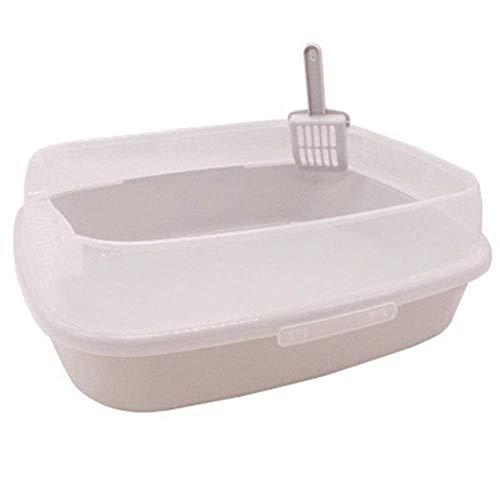 Trainingsplaat, set toilet, hoogzijdige velg, vuilnisbak voor huisdieren, met open kap, kattenbak, ideaal voor huisdieren, wc-wc voor honden (kleur: roze, maat: 37 x 28 x 13cm)