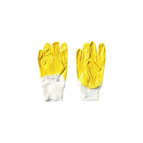 144 Paar Arbeitshandschuhe Nitrilhandschuhe Strickbund gelb Größe 10
