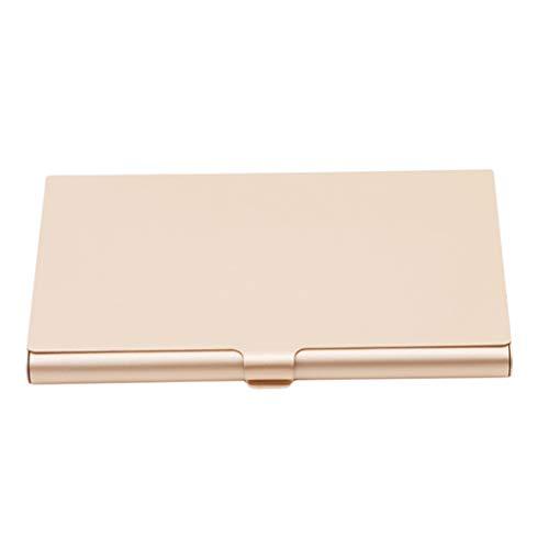 INSEET Kreativer Visitenkarten-Etui Aluminium-Halter Metall Box Cover Card Card Card, Light Gold