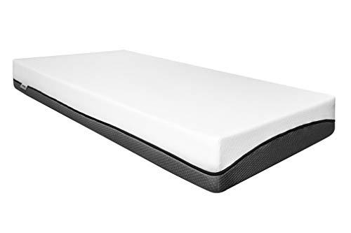 Zwoong Komfort Matratze 90 x 200 - Ergonomische Memory Foam Schaumstoffmatratze mit 2 Liegeseiten - waschbarer Bezug für Allergiker geeignet – Härtegrad 2 und 3, Höhe 20 cm, weiß