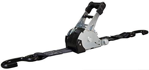 Spanngurt ZurrMatic mit Aufrollautomatik und S-Haken 50 mm breit, 3,0 m lang, 1500 daN - einteilig - schwarz