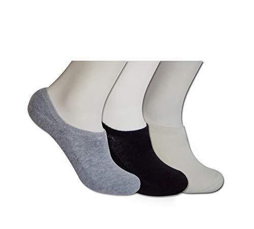 POPYS (2 Pares) Calcetines Tobilleros Unisex Ajustables y Fabricados en Lana Rizada con la Patente Nacional como Calcetines Invisibles Térmicos - Calcetines Cortos Hombre y Pinkies Mujer (Gris, S)