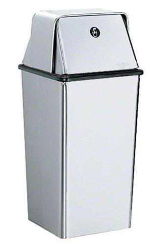 Bobrick 2250 en acier inoxydable magasins Réceptacle de déchets avec porte à fermeture automatique sur le dessus, finition satinée, 13 Gallon Contenance, 13–3/20,3 cm Largeur x 29–1/5,1 cm Hauteur