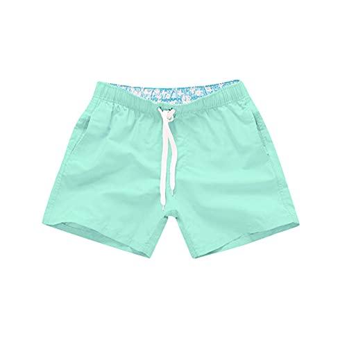 MOOKO Swim Trunks for Mens Quick Dry Beach Board Swim Shorts Elastic Waist Swimsuit Swimwear Bathing Suit with Pockets Mint Green
