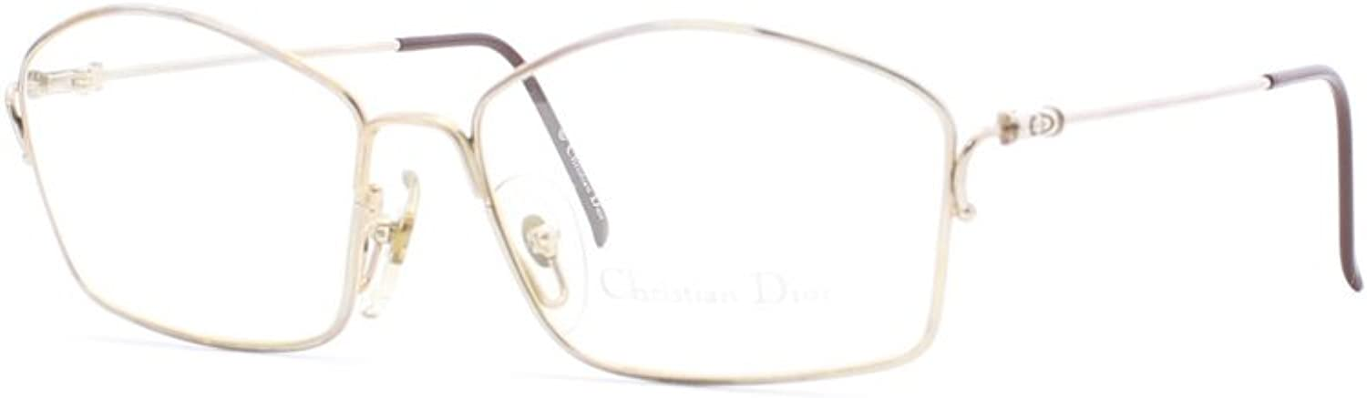 Christian Dior 2600 40 gold and Silver Authentic Women Vintage Eyeglasses Frame