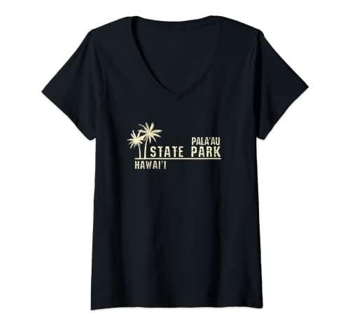 Mujer Parque Estatal Pala'au de Hawái Camiseta Cuello V