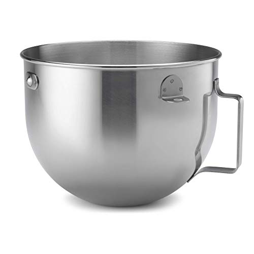 KitchenAid 5qt Polished Stainless Steel Wide Mixer Bowl with Flat Handle