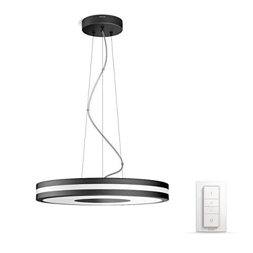 Philips Hue Being LED Pendelleuchte, inkl. Dimmschalter, dimmbar, alle Weißschattierungen, steuerbar via App, kompatibel mit Amazon Alexa (Echo, Echo Dot), schwarz