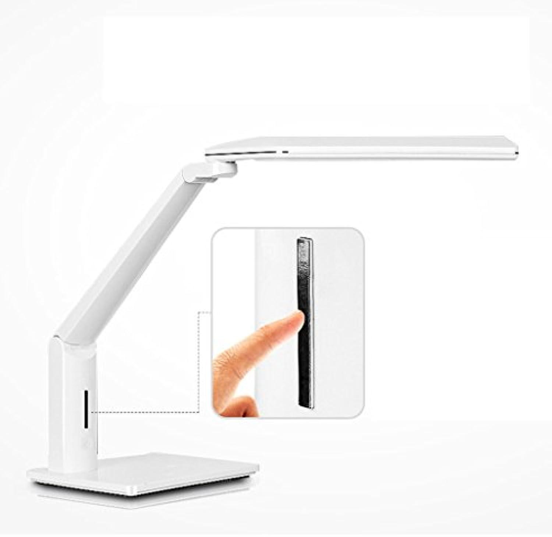 Tischleuchte De LED Schreibtischlampe 10W Lesen, Schlafzimmer Nachttischlampe, Berührungsschalter, dimmbare Farbe, freie Rotation