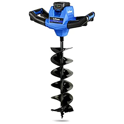 """Landworks Earth Auger Power Head w/Steel 6""""x30"""" Bit Heavy Duty Electric Cordless Lithium-Ion Battery & Charger for Earth Burrowing/Drilling & Post Hole Digging (Earth Auger 6"""" Set)"""