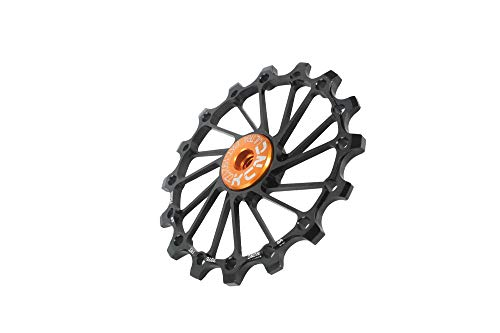 KCNC Road Mountain Bike Rear Derailleur Oversized Pulley 16T for Shimano/Sram/Campy OSPW use (Black)