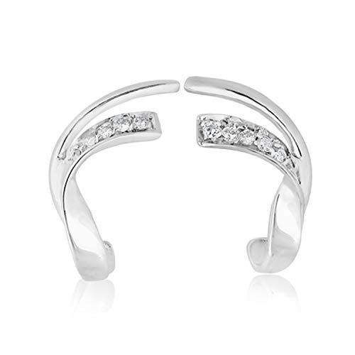 MILLE AMORI ∞ Pendientes Mujer Oro y Diamantes - Oro Blanco 9 Kt 375 ∞ Diamantes 0.12 Kt - Florence