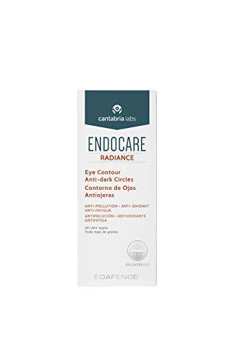 Endocare Radiance Contorno Ojos y Antiojeras - Crema Contorno de Ojos Antipolución, Antioxidante y Antifatiga, para Todo Tipo de Pieles, Beige, 5 Mililitros