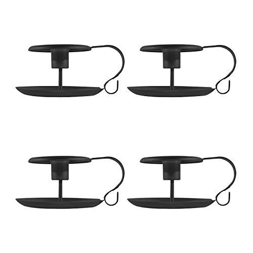 Juego de portavelas retro de hierro negro, soporte de vela cónico, soporte...