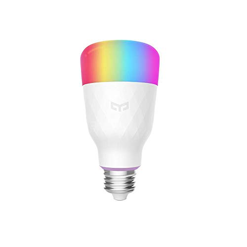 Yeelight 10W Smart LED Bulb E26/E27 Dimmable Changing Multicolor WiFi Light Bulb Compatible with Alexa Echo, IFTTT and Home Assistant App Compatible for Apple iOS & Android (1 PC, E26)