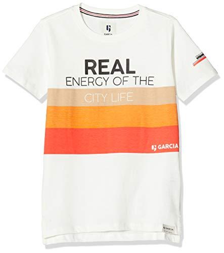 Garcia Kids Jungen N03609 T-Shirt, Mehrfarbig (Broken White 304), 164 (Herstellergröße: 164/170)
