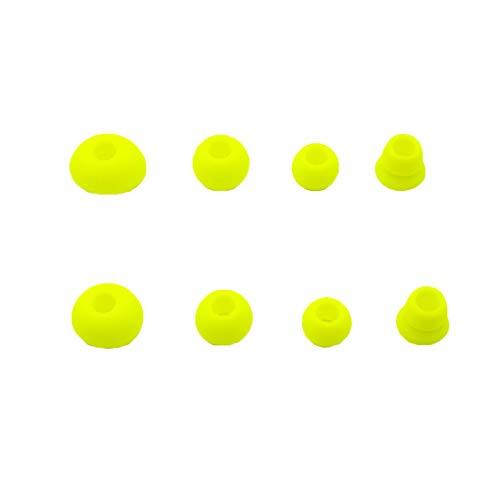Adhiper Dr Dre Dre Ersatz-Ohrhörer, Silikon, kompatibel mit kabellosen Powerbeats 2 Powerbeats3 Beats, Gelb, 8 Stück