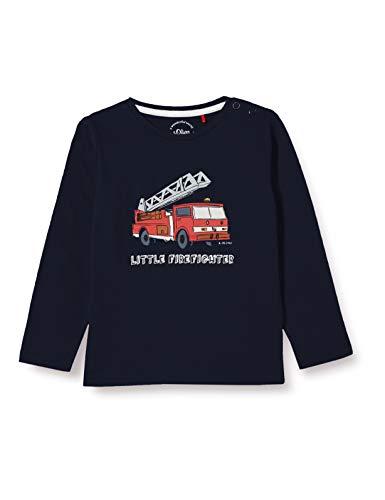 s.Oliver Junior Baby-Jungen 405.12.012.12.130.2056349 T-Shirt, Blau, 86