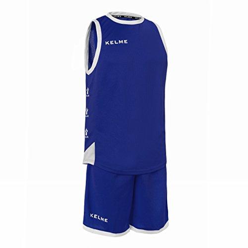 KELME 80803 Conjunto Equipaciones de Baloncesto, Hombre, Azul (Royal) / Blanco, XL