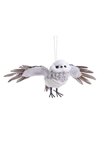 Kurt Adler Gray Flying Owl Ornament Standard