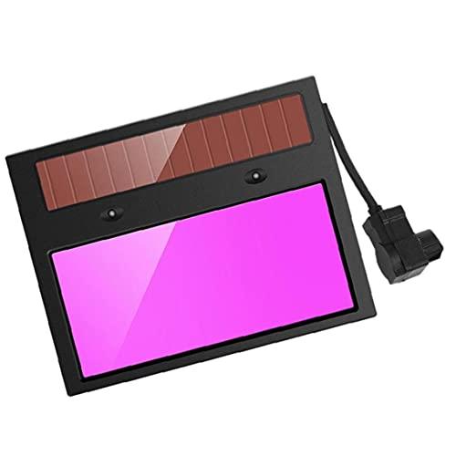 MaylFre Lente soldadora Energía Solar Auto oscurecimiento de la Soldadura del Casco de la Soldadura Filtro de la Sombra Gafas para la artesanía de Bricolaje y doméstico