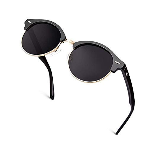 Soding Gafas de sol polarizadas Hombre Mujer Bocina enculado Medio Marco-BL1