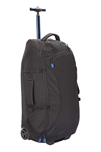 Mountain Warehouse Voyager 50L Wheelie Rucksack - Durable Backpack - for Travelling, Camping Jet Black