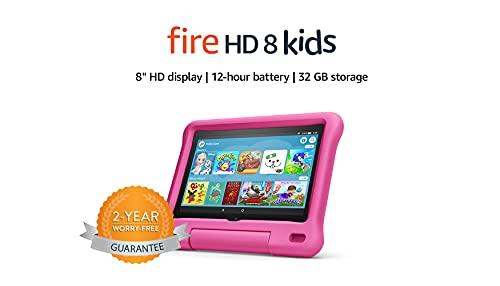 Fire HD 8 Kids tablet | 8' HD display, 32 GB, Pink Kid-Proof Case