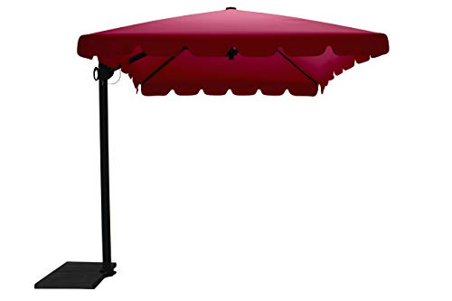 Maffei Art 87r Allegro, Parasol deporté rectangulaire cm 300x200, Tissu TexMa, Made in Italy. Couleur Bordeaux