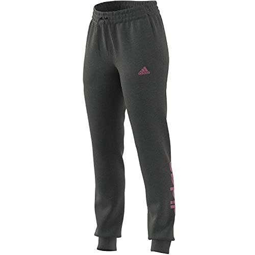 adidas W Lin FT C PT Pants, Women s, Dark Grey Heather Rose Tone, L