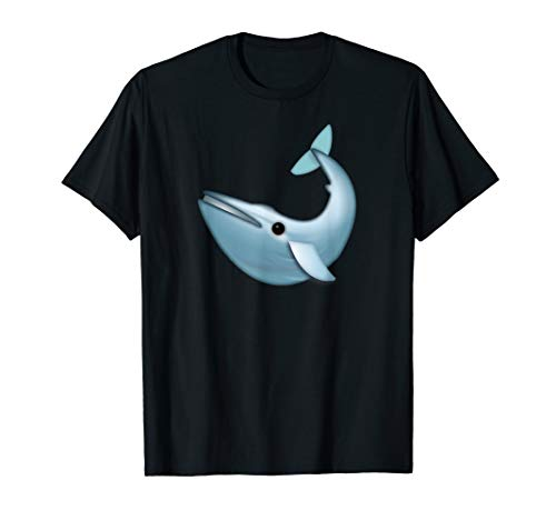 Cool Blue Whale Emoji Love Sea Birthday Theme Party T-shirt