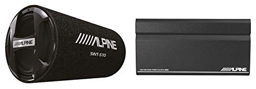 Alpine SWT-S10 1200w 10  Bass Tube Car Subwoofer+Mono Amp Power Pack Amplifier