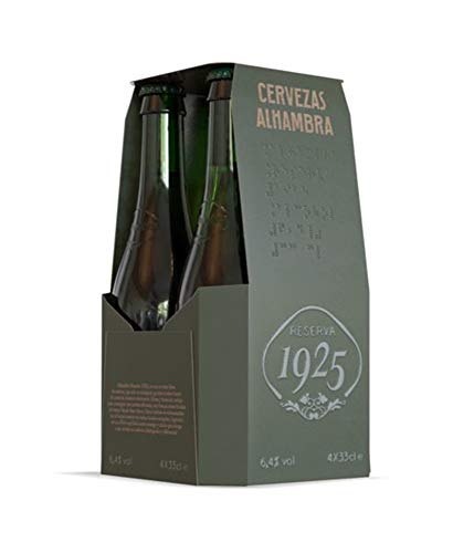 Alhambra Reserva 1925 Cerveza - Pack de 4 x 33 cl - Total: 1320 ml