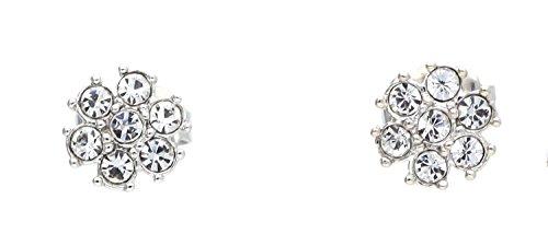 Guess Damen-Ohrhänger Edelstahl gebürstet Kristall silber - UBE21541