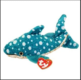 LOT of 10 - Ty Beanie Babies Poseidon Whale Shark Stuffed Animal Plush Toys - Great for Birthday Parties and Gift Baskets