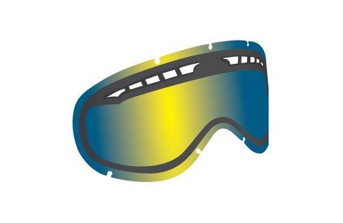 Dragon DXS Skibrille Wechselscheibe, Farbwahl, Glas:yellow blue ionized