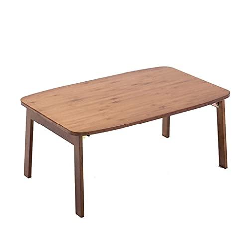 Tavoli Tavolino Tavolino Stabile Letto Tavolo da Computer Tavolo Lazy Kang Tavolino da caffè Pieghevole in Stile Giapponese per Uso Domestico (Colore: Marrone, Dimensioni: 704231cm