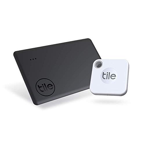 Tile Mate + Slim Combo (2020) Amazon Exclusive, Bluetooth Item Finder Set - 2 Pack(1Mate, 1Slim).Works with Alexa & Google Smart Home. iOS & Android Compatible. Find your Keys, Wallets, Remotes & More