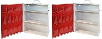 Medique Products First Aid Cabinet with Pockets, Medical Storage with 3 Shelves - 712MTM from Medique