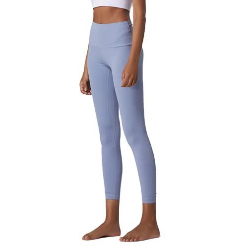 QTJY Pantalones de Yoga Deportivos Delgados y sexys para Mujer, Gimnasio con Bolsillos, Leggings de Cintura Alta, Pantalones Deportivos elásticos con Push-up D M