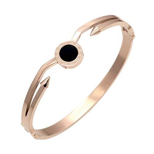 DBSUFV Pulsera de diamantes de acero inoxidable amor personalidad pulsera de titanio pulsera de mujer pulsera de círculo 2019