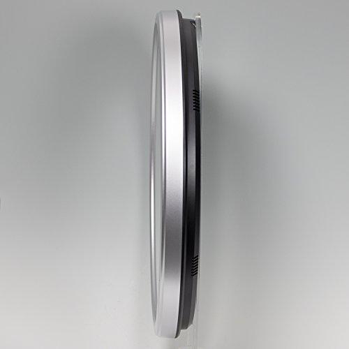 『セイコー クロック 掛け時計 電波 アナログ カレンダー 温度 湿度 表示 銀色 メタリック KX237S SEIKO』の2枚目の画像