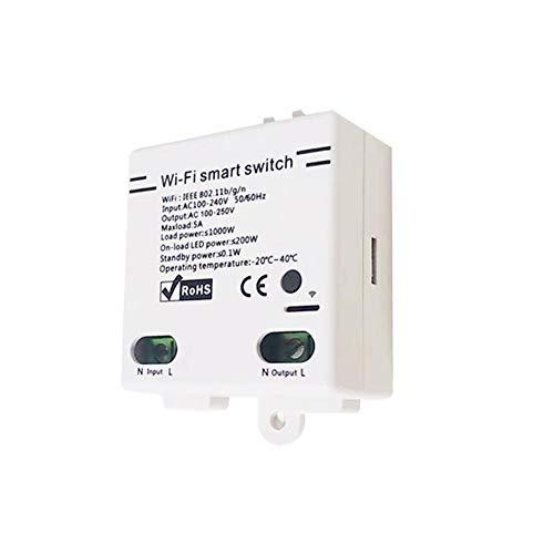 WiFi Interruptor Inteligente inalámbrico Compatible con Alexa/Smart Things Hub/Wink Hub/Zigbee HA Hub/Echo Plus/Echo Show 2 / Echo Dot DIY Su hogar a través de la aplicación