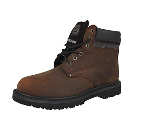 MENS GROUNDWORK SK21 STEEL TOE CAP LACE UP SAFETY WORK BOOT (UK10, brown)