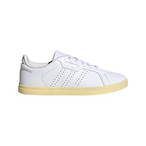 adidas Damen COURTPOINT Base Tennisschuhe, Ftwbla/Ftwbla/Blatiz, 36 2/3 EU