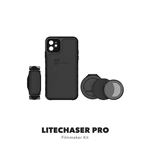 PolarPro LiteChaser Pro Filmmaking Kit für iPhone 11 Pro Max Schutzhülle + Griff + VND Filter